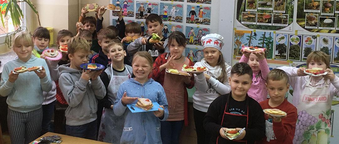 Zdrowe kanapki w klasie 2d